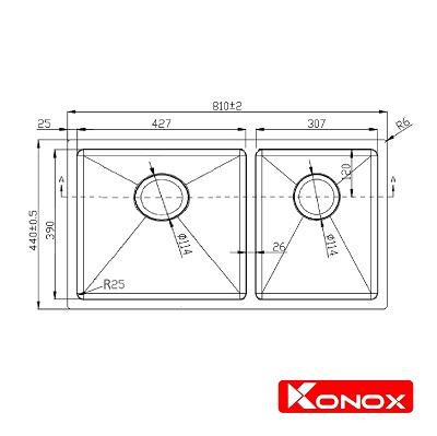 Ban ve Undermount Series KN8144DU-min