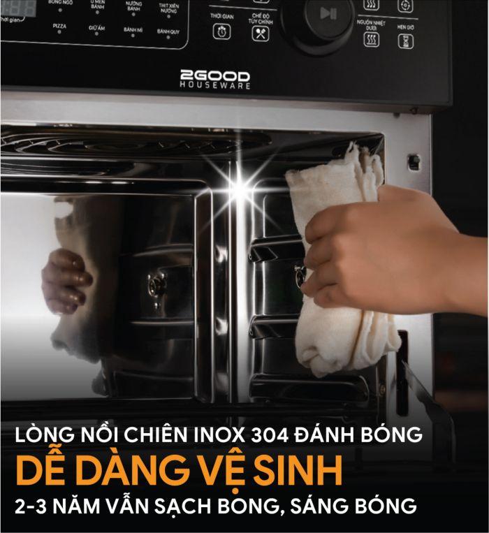 de-dang-ve-sinh-voi-noi-chien-khong-dau-2good-vortex-s20-air-fryer-oven