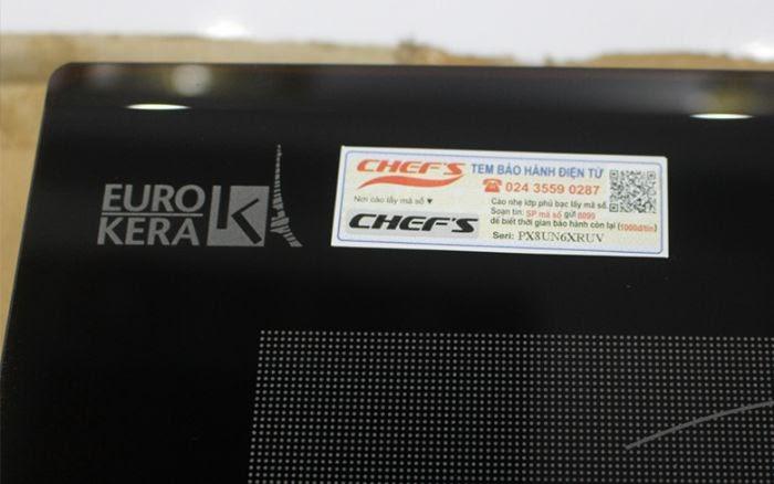 Mặt kính EuroKera cao cấp của Bếp từ Chefs EH DIH666