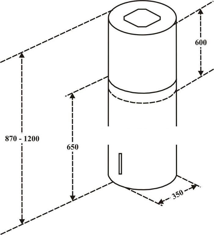 Thông số kỹ thuật của Máy hút mùi EH-R822E3