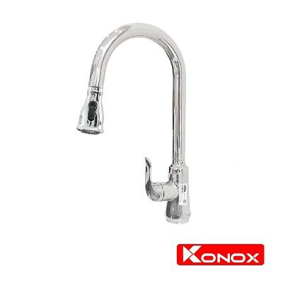 Vòi rửa bát nóng lạnh dây rút Konox KN 1226BG