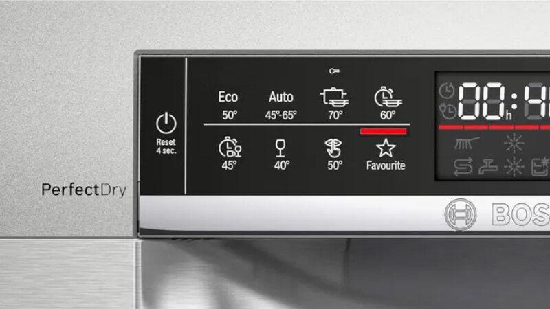Chương trình rửa của máy rửa bát Bosch SMS6ZCI42E