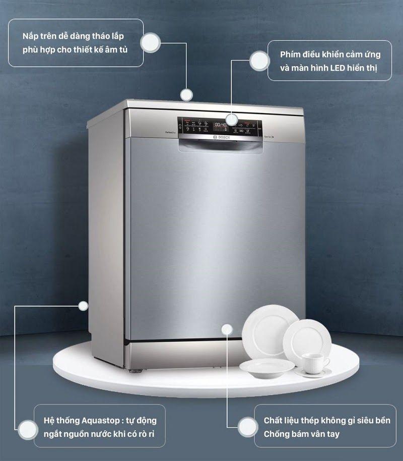 Review đánh giá máy rửa bát Bosch SMS6ZCI49E có nên mua không?