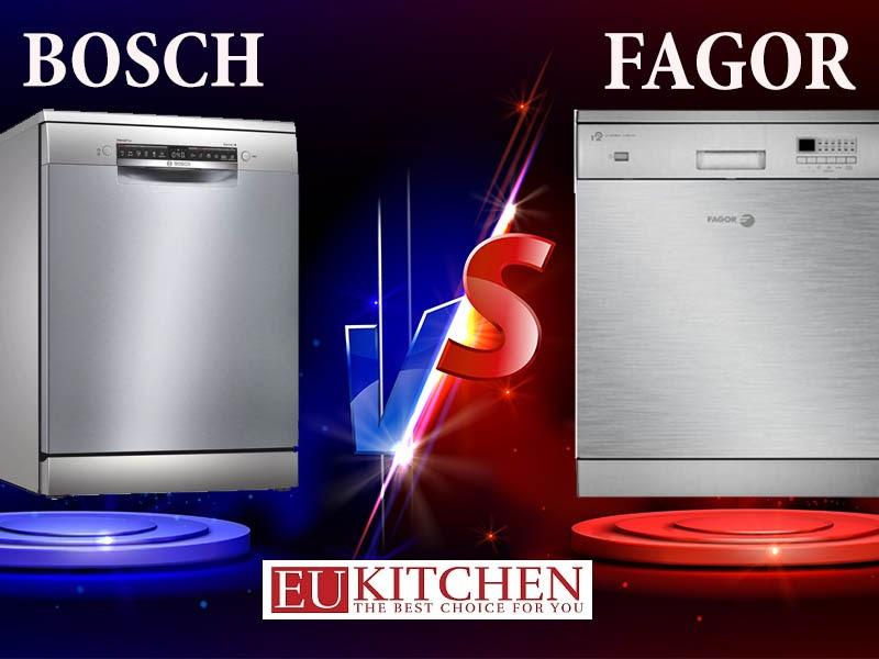 So sánh máy rửa bát Bosch và Fagor