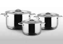 Bộ nồi 3 chiếc Chef's Inox 304