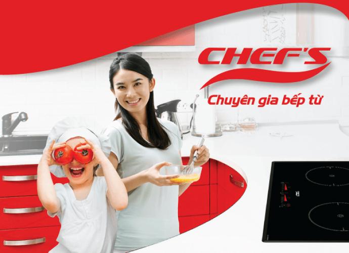 Khuyến mại Bếp từ Chefs chính hãng tháng 12 tại hệ thống Eukitchen